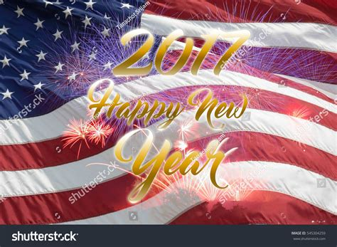 happy new year 2017 usa flag stock photo 545304259