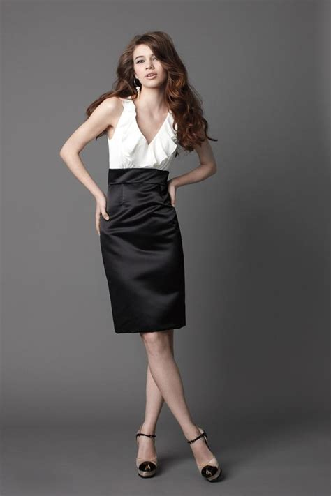 White And Black Dress beautifying black and white bridesmaid dresses cherry