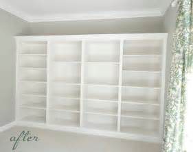 Build Wall Bookshelves From Billys To Built Ins Centsational