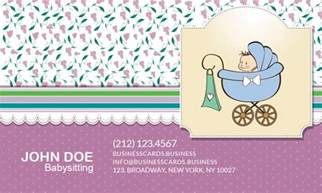 Babysitting Business Cards Free Templates by Free Babysitting Business Card Template For Photoshop