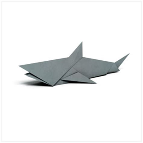 Easy Origami Shark - origami patterns pages wwf