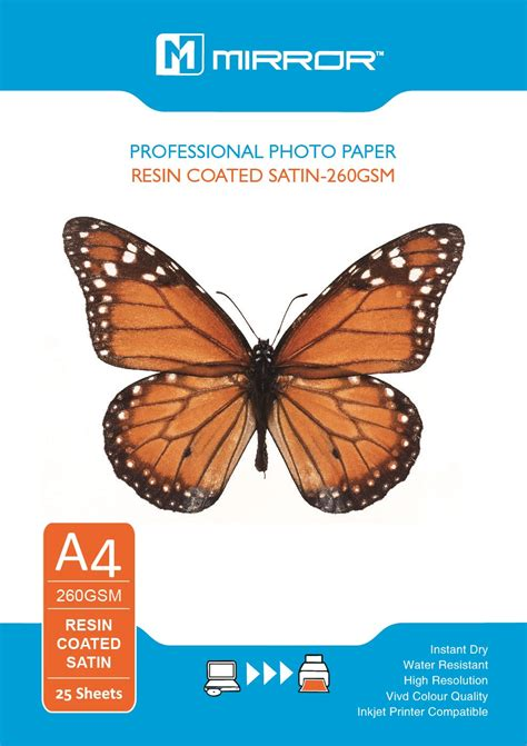 Data Print Glossy Photo Paper 210 Gsm A4 Dp Gp 210 A4 Dataprint mirror satin 260 gsm paper resin coated 25 sheets falcon