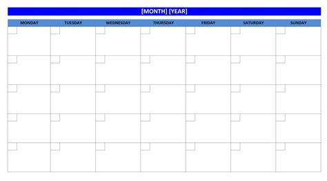 Blank Activity Calendar Template by Blank Activity Calendar Printable Calendar Template 2018