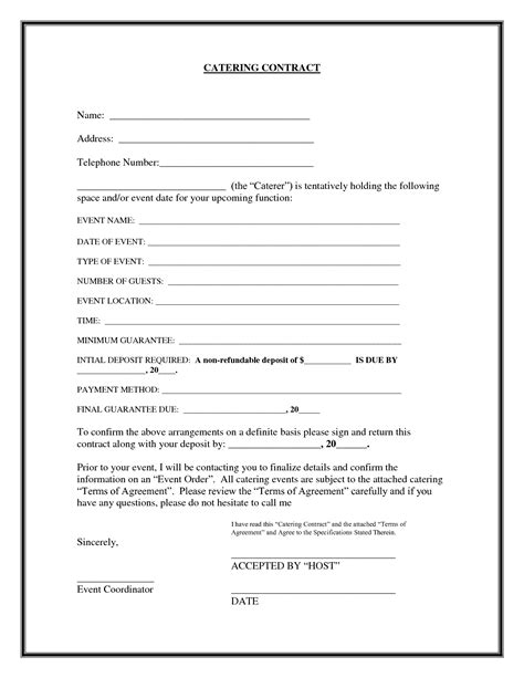 Blank Contract Exle Mughals Deal Agreement Template