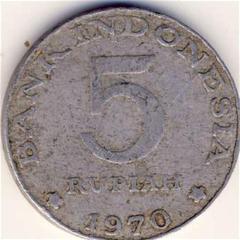 K10 3 Keping Koin Luar Negri benda antik langka koin 5 rupiah 1970 aluminium gambar burung