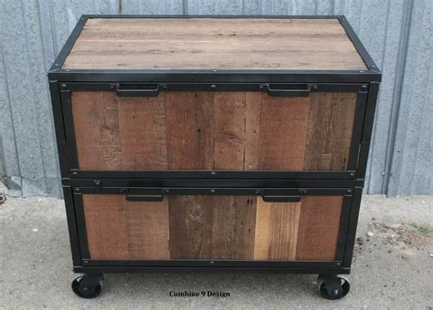 Buy a Hand Made Vintage Industrial File Cabinet. Reclaimed