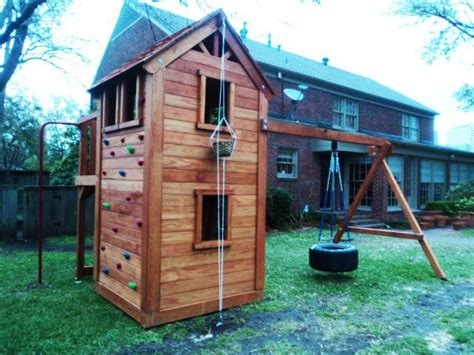 tree house swing set plans fort swingset woodworking projects plans