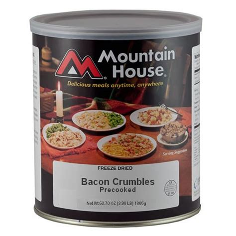 Cooked Bacon Shelf by Mountain House Bacon Crumbles In 10 Can