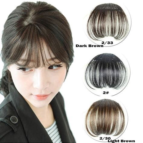fake bangs clip for thin hair new fashion women black beauty hair clip in bangs fake
