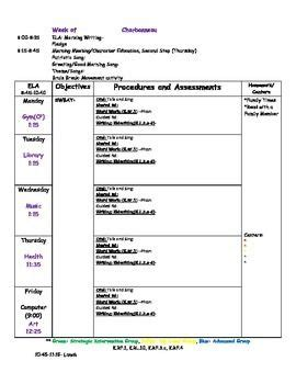 Reading Street Lesson Plan Template