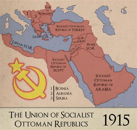 ottoman republic a hypothetical map of what will the union of socialist