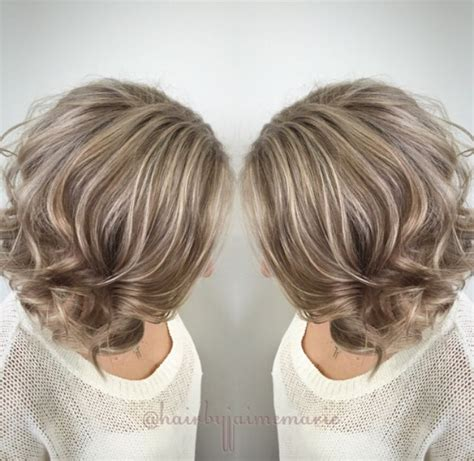 silver highlighted hair styles ash blonde bob highlights and lowlights platinum blonde