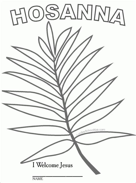 coloring pages for palm sunday az coloring pages