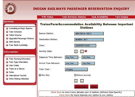 irctc seat availability enquiry by number image gallery indian railway trains between