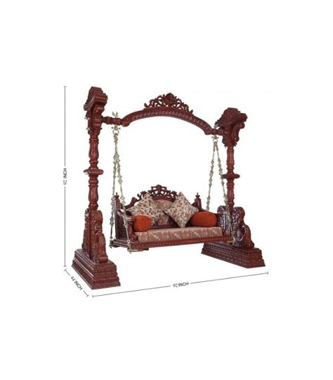 jhula swing buy hand carved jhoola for living room from teak wood