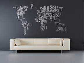 World Wall Stickers Wall Sticker World Map Interior Design Ideas