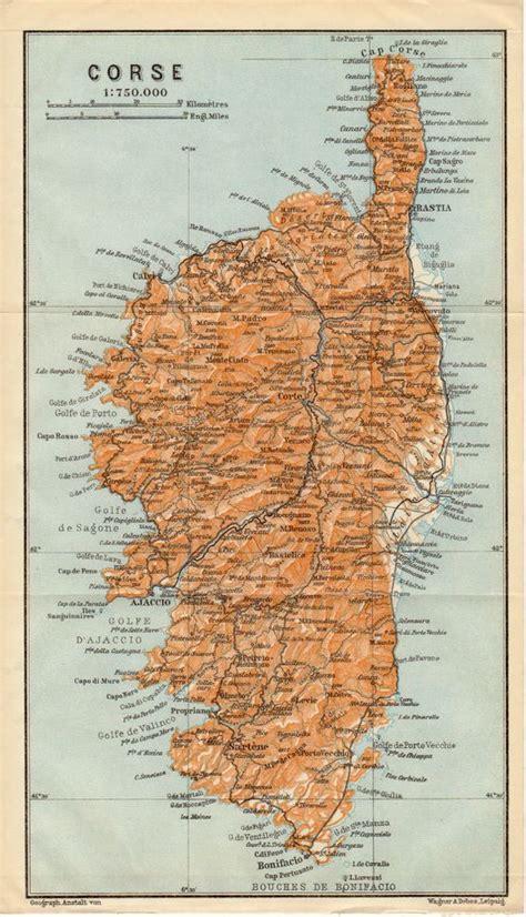 corsica map 1914 corsica antique map corse corsega mediterranean sea haute corse corse du sud