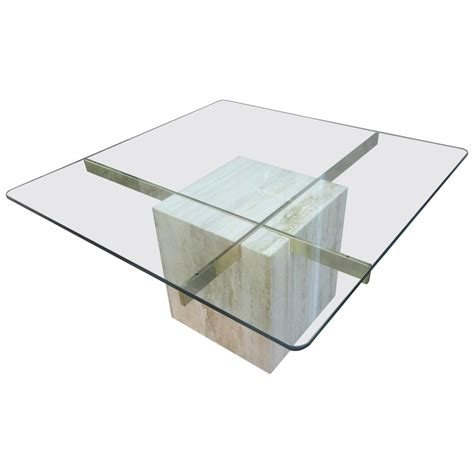 Artedi Marble Coffee Table At 1stdibs Glass And Marble Coffee Table