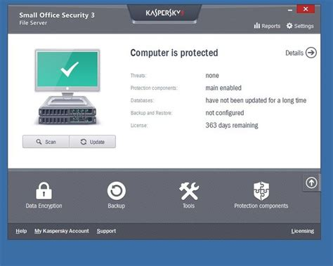 Antivirus Kaspersky Small Office Security revisi 243 n de kaspersky small office security