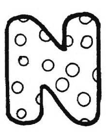 dibujos de letras para colorear n