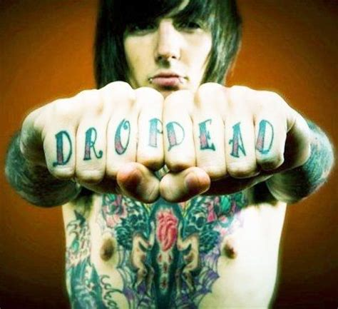 drop dead tattoo oliver sykes drop dead bands