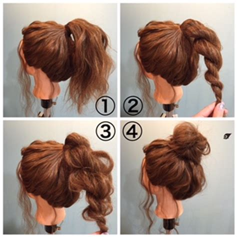 put your hair in a bun with braids 簡単で可愛い ゆるいお団子ヘアアレンジを作る4つのコツ