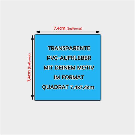 Aufkleber Drucken Quadratisch by Transparente Aufkleber Auf Pvc Folie Gedruckt Quadratisch