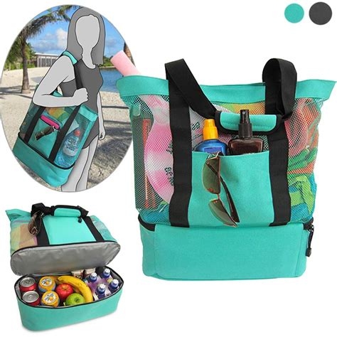 Cooler Bag Rainbow 2 portable insulated cooler bag food picnic mesh bags cooler tote waterproof bags b2cshop in
