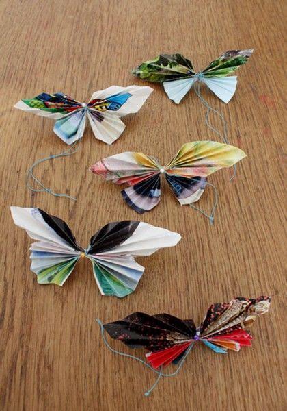 Folded Paper Butterflies - paper folding butterflies school projects