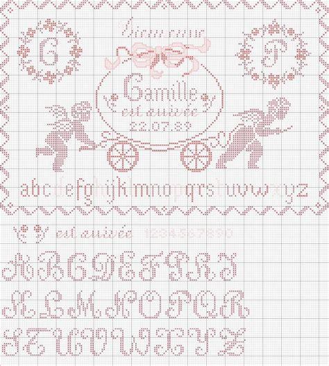 cuscini nascita punto croce schema punto croce cuscino nascita femminuccia x stitch