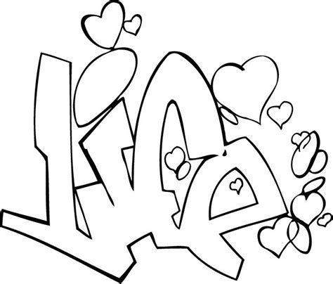 awesome graffiti coloring pages coloring page of a life graffiti tag for kids coloring point