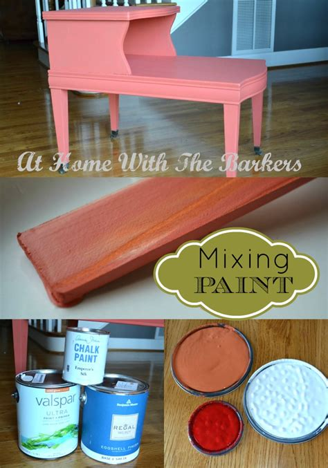 mixing your own paint color