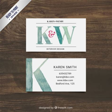 painted interior design business card vector free