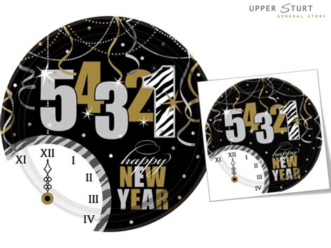new year dinner plates new year s countdown banquet dinner plates 8 pack