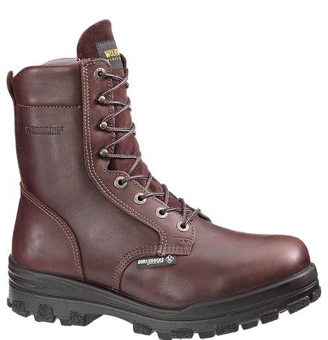 wolverine durashock 8 inch steel toe waterproof work boot
