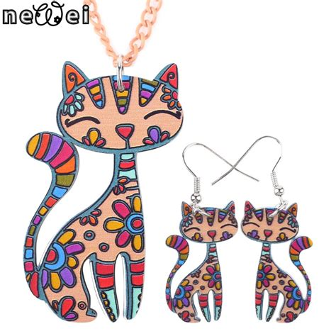 Tas Wanita Fashion Ring Cat newei brand jewelry sets cat pendant drop earrings new 2015 statement fashion jewelry for