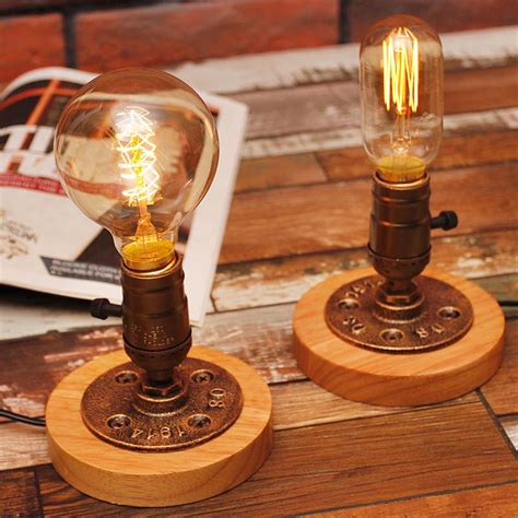 Edison Table L Edison Bulb Table Lights American Rural Solid Wood Desk Ls Oregonuforeview