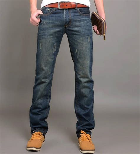 comfortable trousers for men 2016 new fashion men jean straight jeans for men cotton