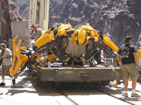 Transformer Set Transformers Picture Of Bumblebee On The Set