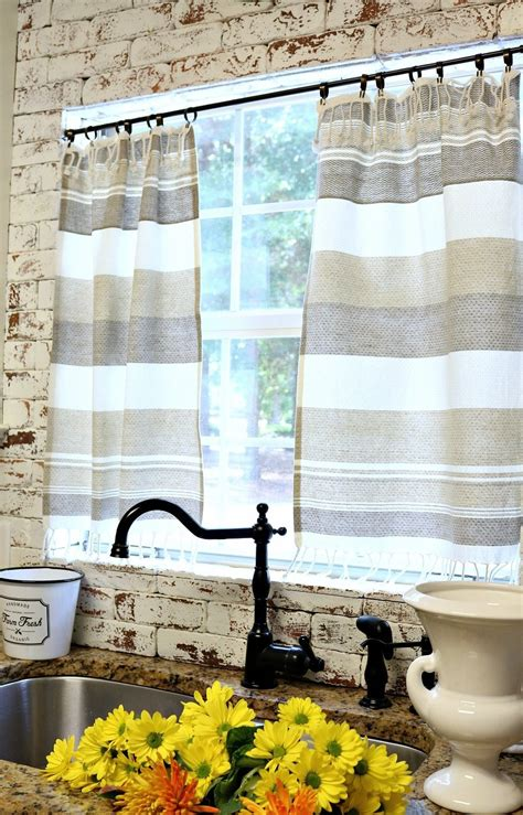 How To Make Kitchen Curtains From Dish Towels Curtain Make Kitchen Curtains