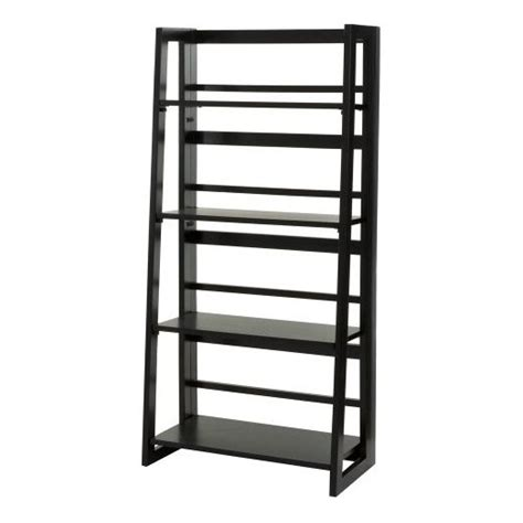 Dolce 4 Shelf Folding Bookcase Black Linon Target Black Bookshelves Target