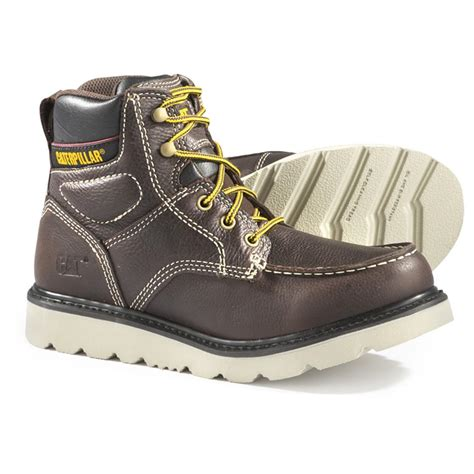 soft toe work boots for s cat 174 soft toe wedge boots brown 609401 work
