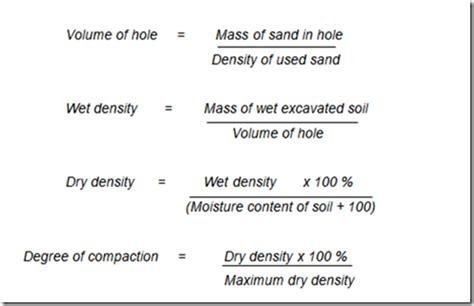 test procedura civile field density test civil