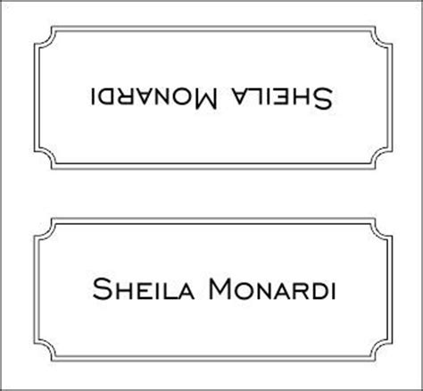 Table Name Cards Template For Mac by Place Card Templates Wedding Place Card