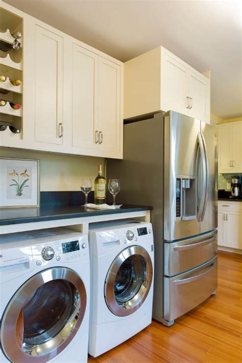 laundry in kitchen ideas laundry kitchen functional space combination small design ideas