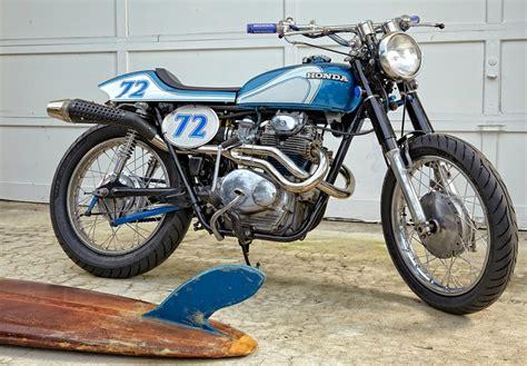 honda cb350 tracker by vintage iron bikebound