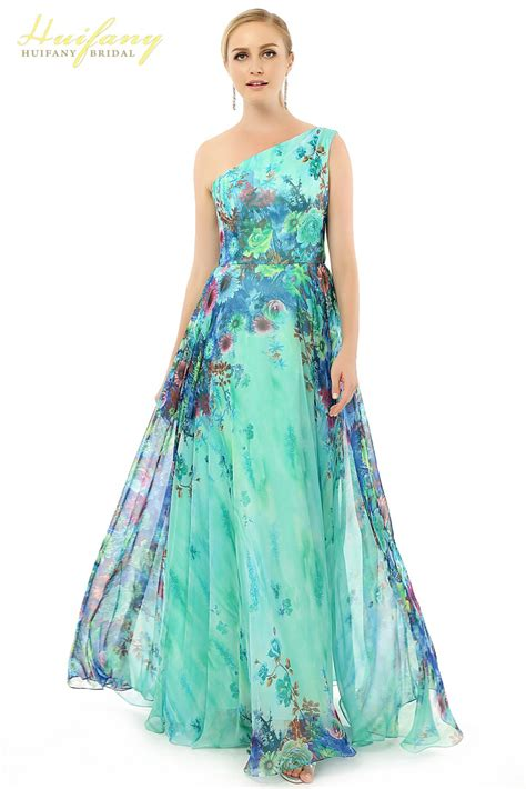 Muddy Floral Print Dresses by Huifany Flower Pattern Floral Print Chiffon Evening Dress