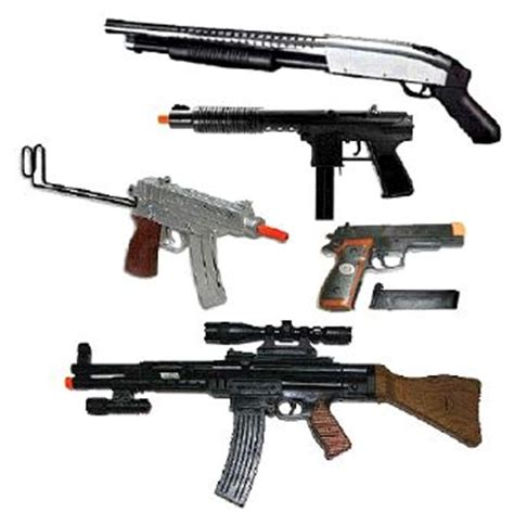 cap and toy guns, toy rifles, holster sets
