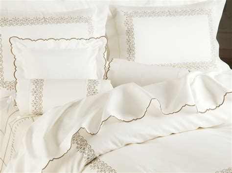 schweitzer linen scallopino luxury bedding italian bed linens