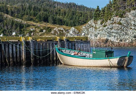 small fishing boats of newfoundland outport fishing boat newfoundland stock photos outport